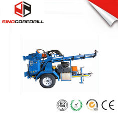 China 200M Protable Small Trailer  Hydraulic Water Well Drilling Rig Borehole Drilling Equipment supplier